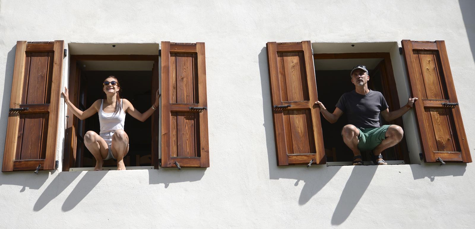 Elise & Pierre à la fenêtre du Flourou